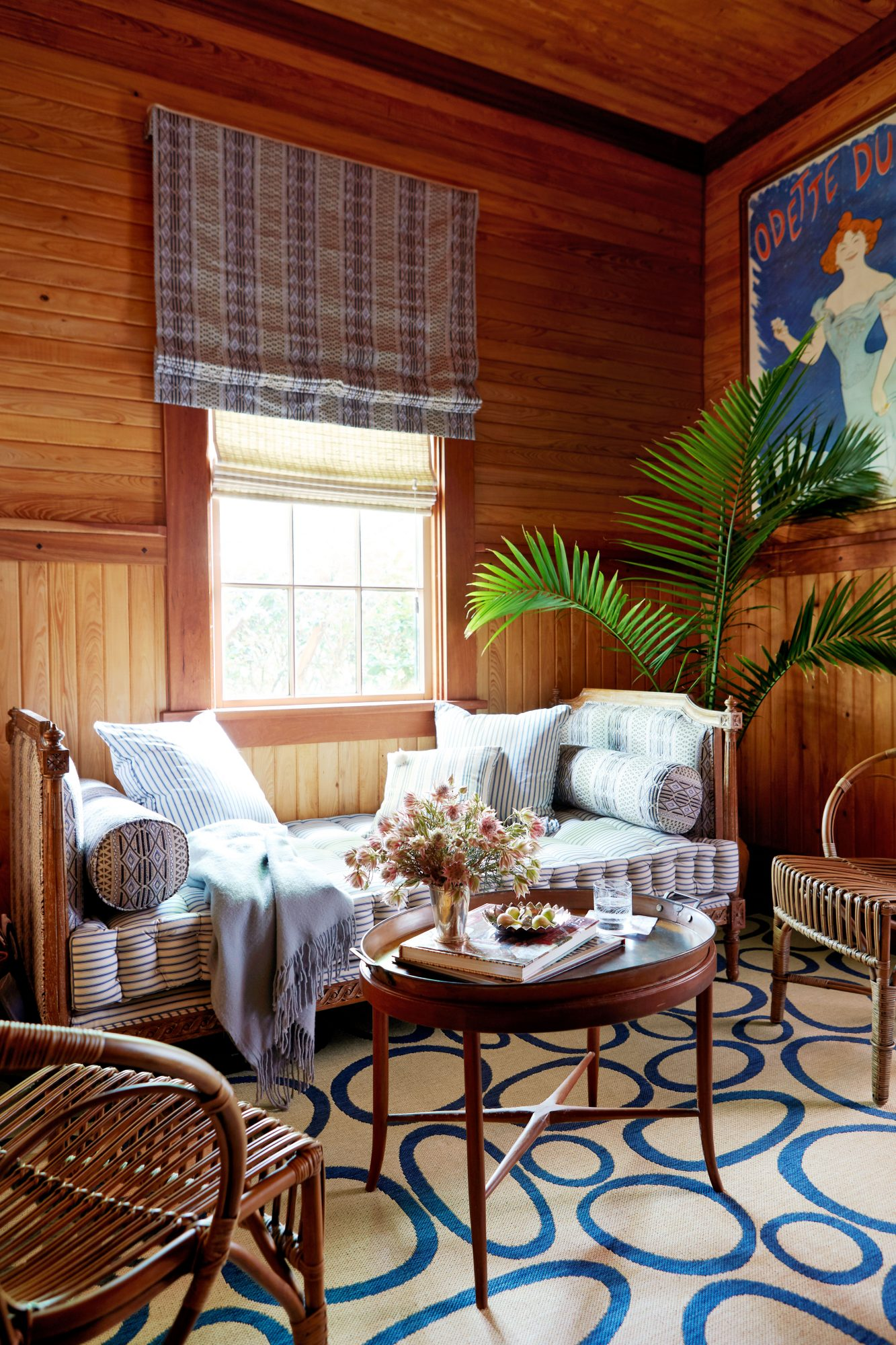 Rattan Daybed in Wood-clad Den