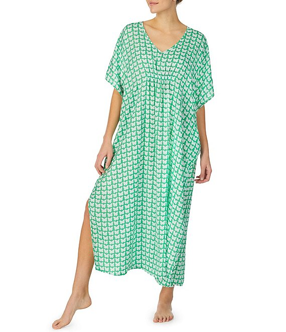kate spade new york Floral Charmeuse Cover-Up