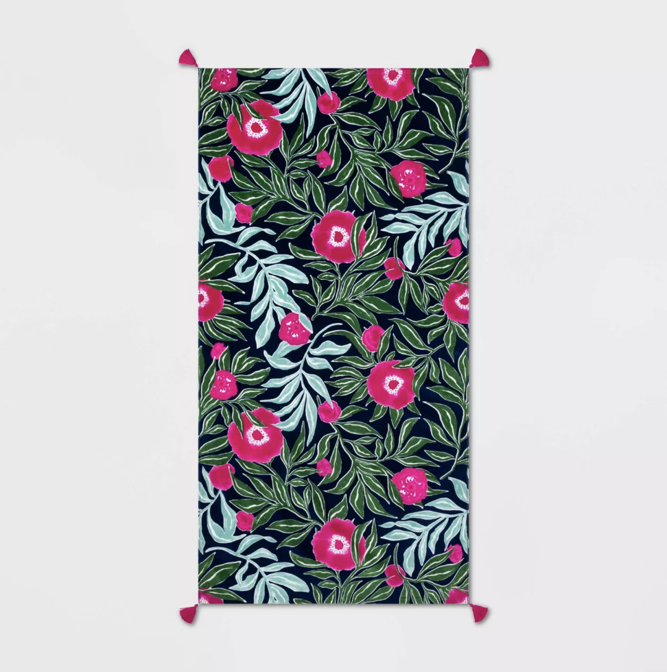 Opal House Floral Beach Towel