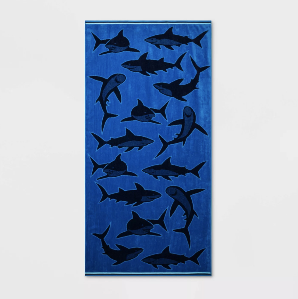 Sun Squad Shark Beach Towel