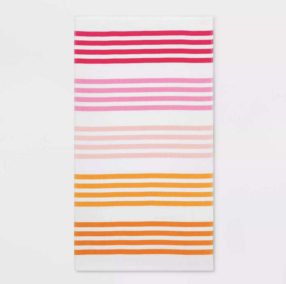 Sun Squad Striped Beach Towel