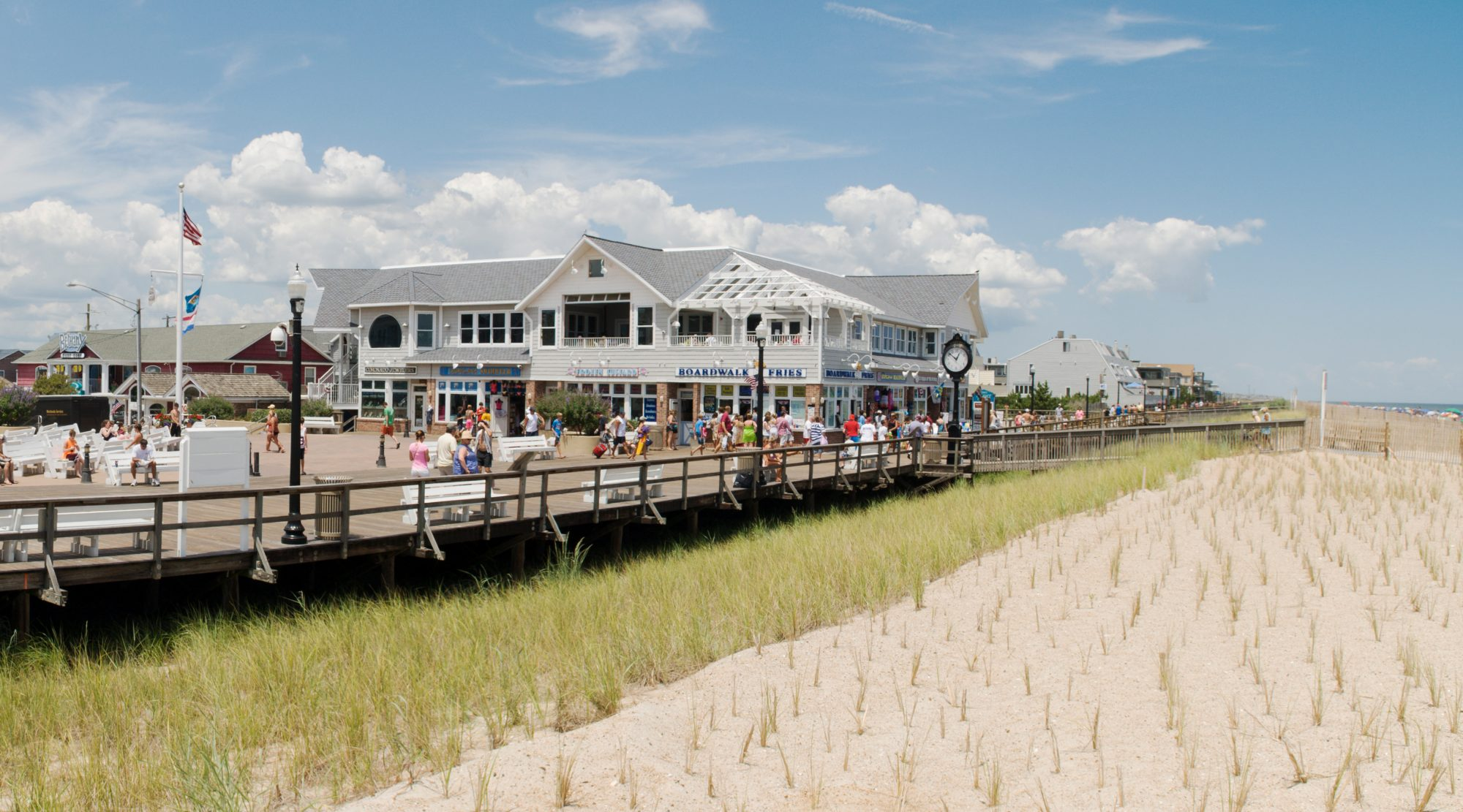 With its nostalgic, pedestrian-only boardwalk and mile-long strand right on the Atlantic that's cleaned mechanically three times a week, this family-friendly town is a real postcard of Delaware shoreline delight.