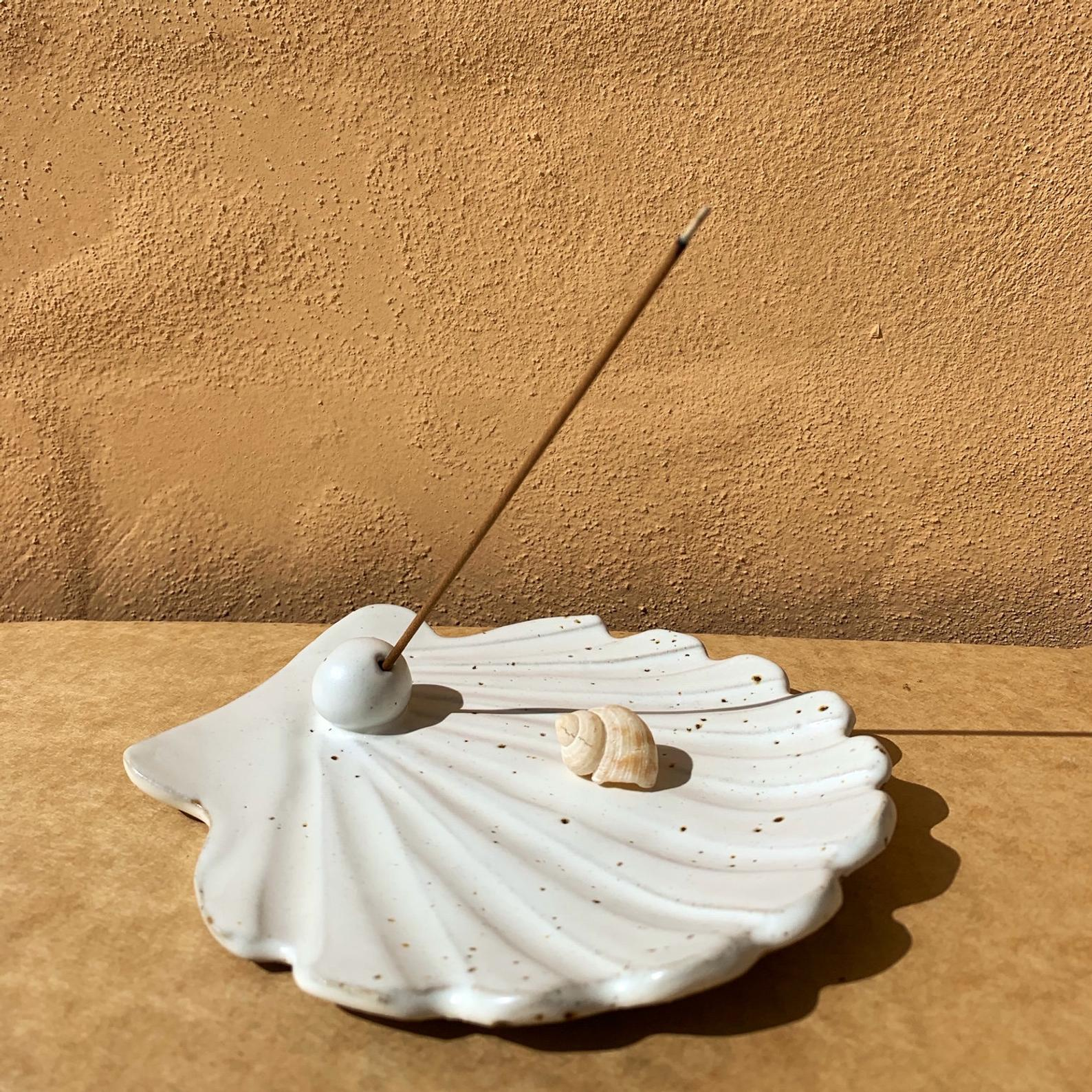 Shell incense jewelry dish