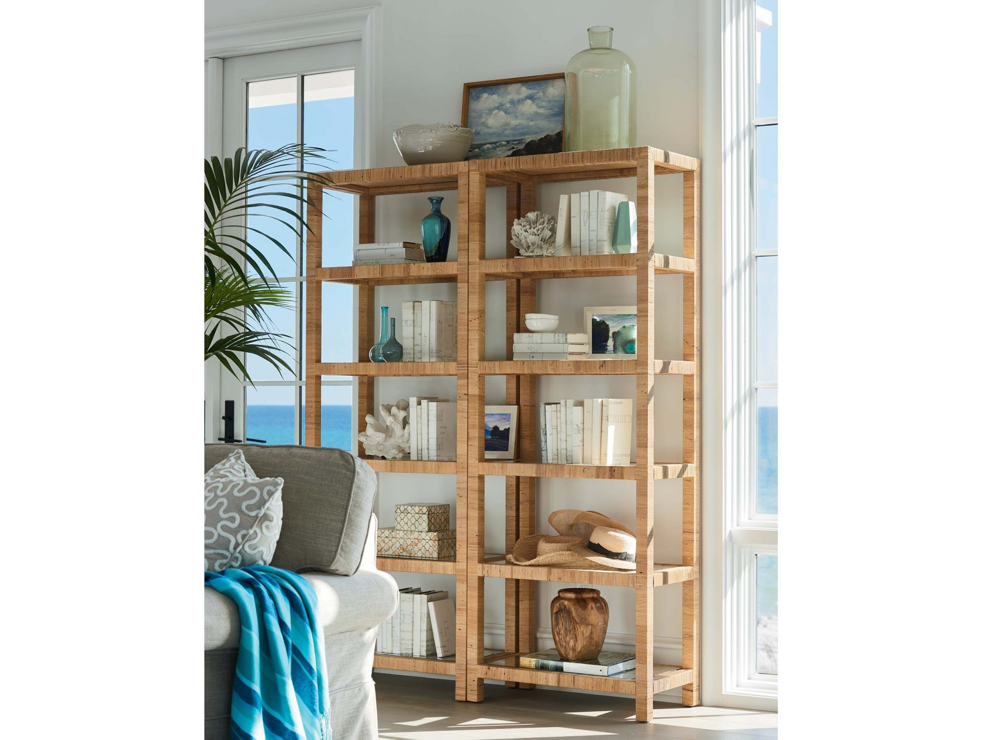 Long Key Etagere from the Coastal Living Furniture Collection