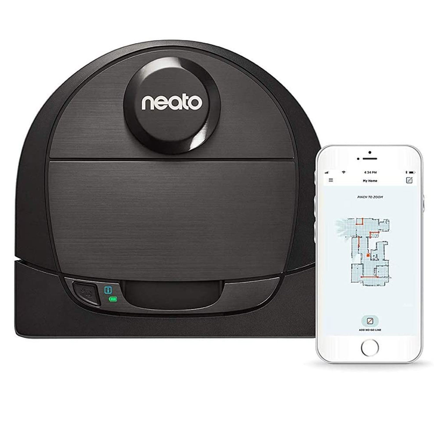 Neato Robotics D6 Connected Laser Guided Robot Vacuum for Pet Hair
