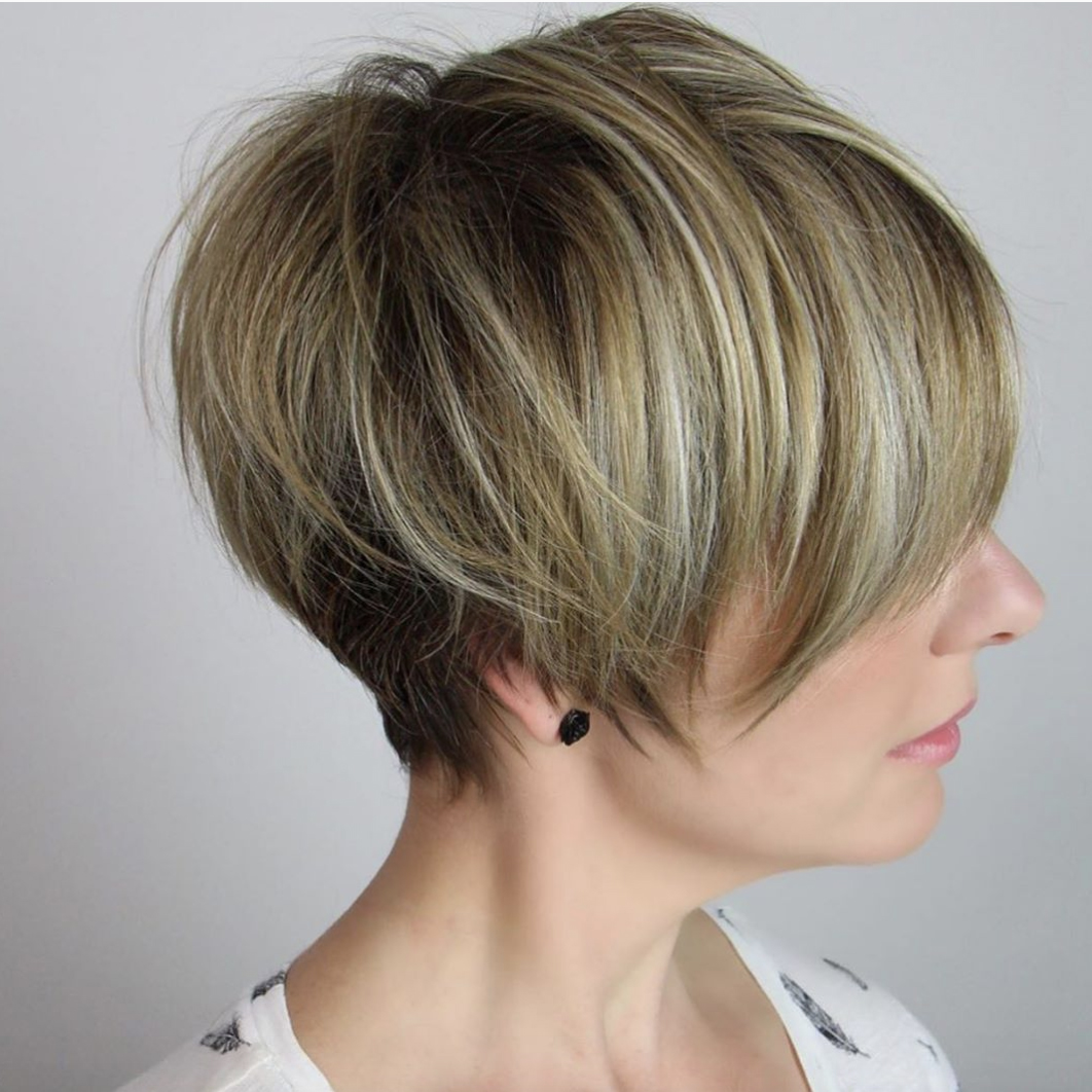 Cheek-Grazing Pixie Cut