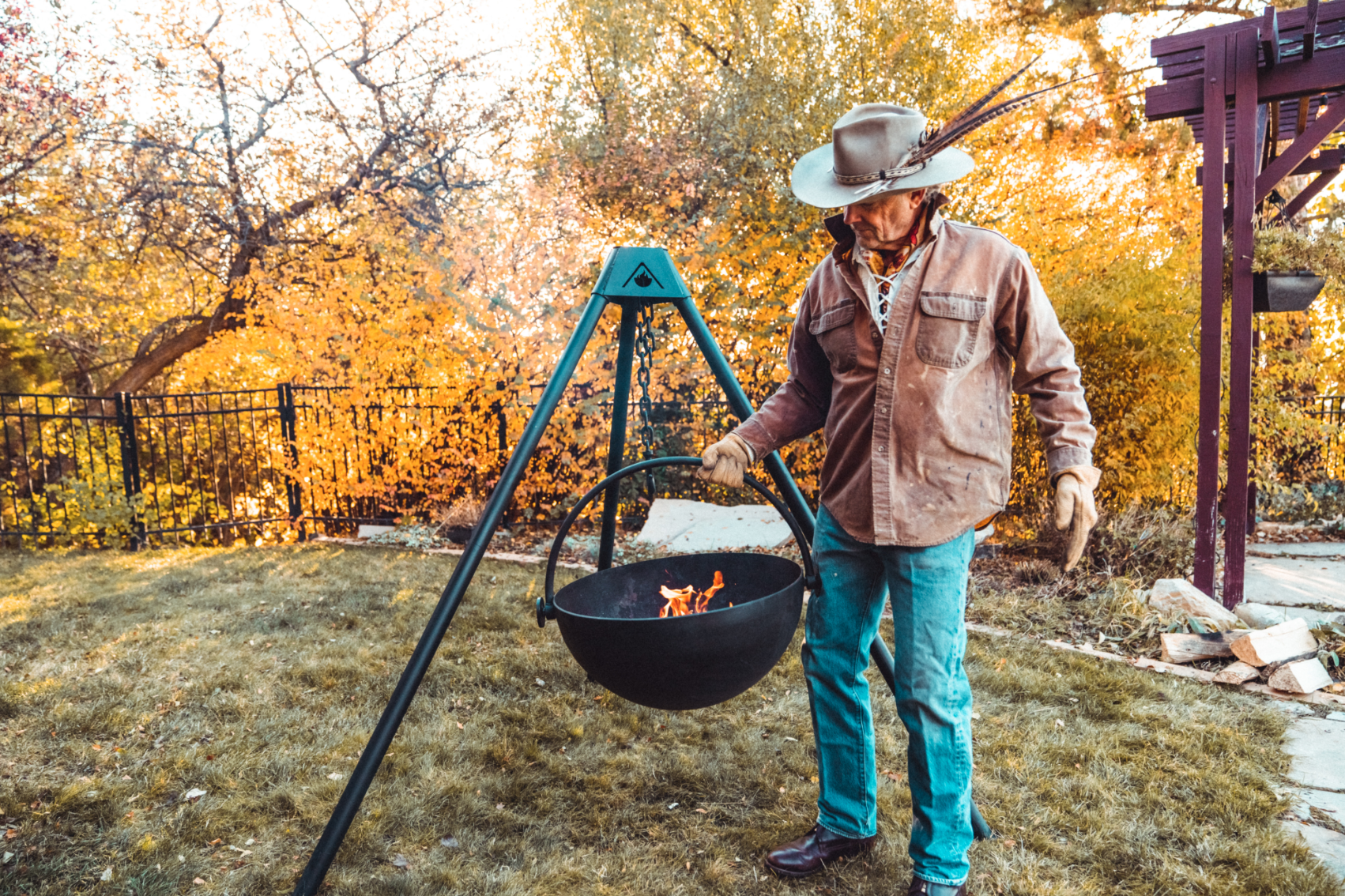 Splurge on a Cowboy Cauldron for cooking dinners or gathering around a campfire.                             BUY IT: $999; cowboycauldron.com