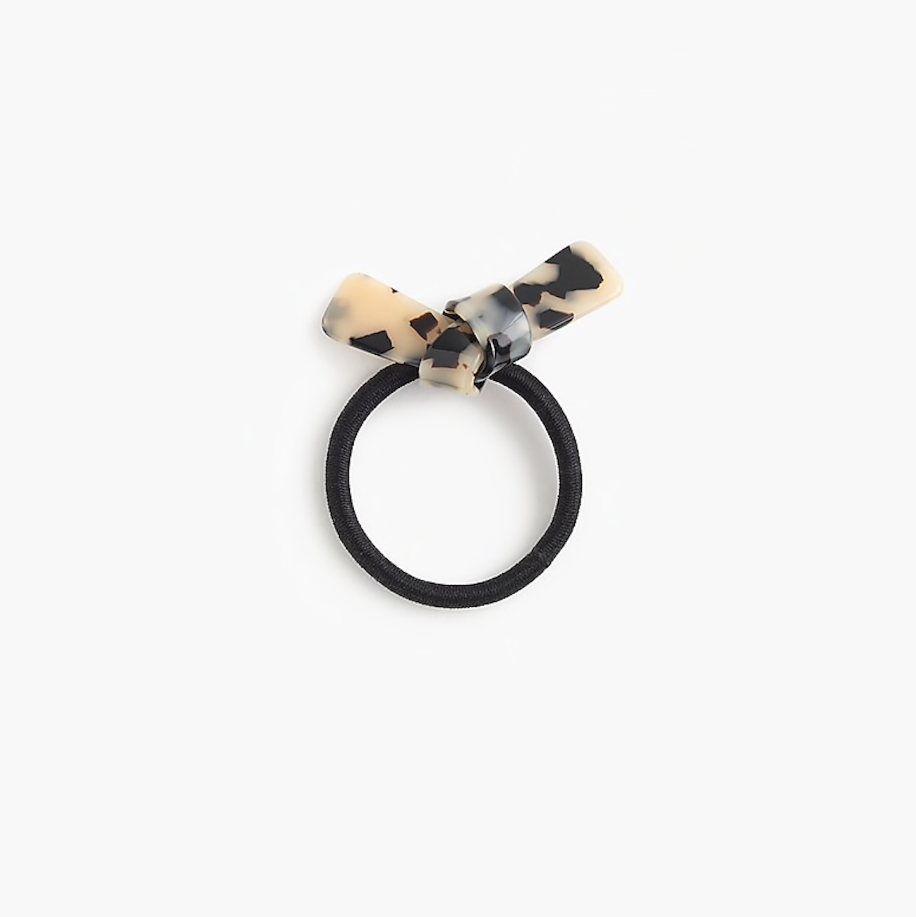 J Crew Hair elastic with faux-tortoise bow