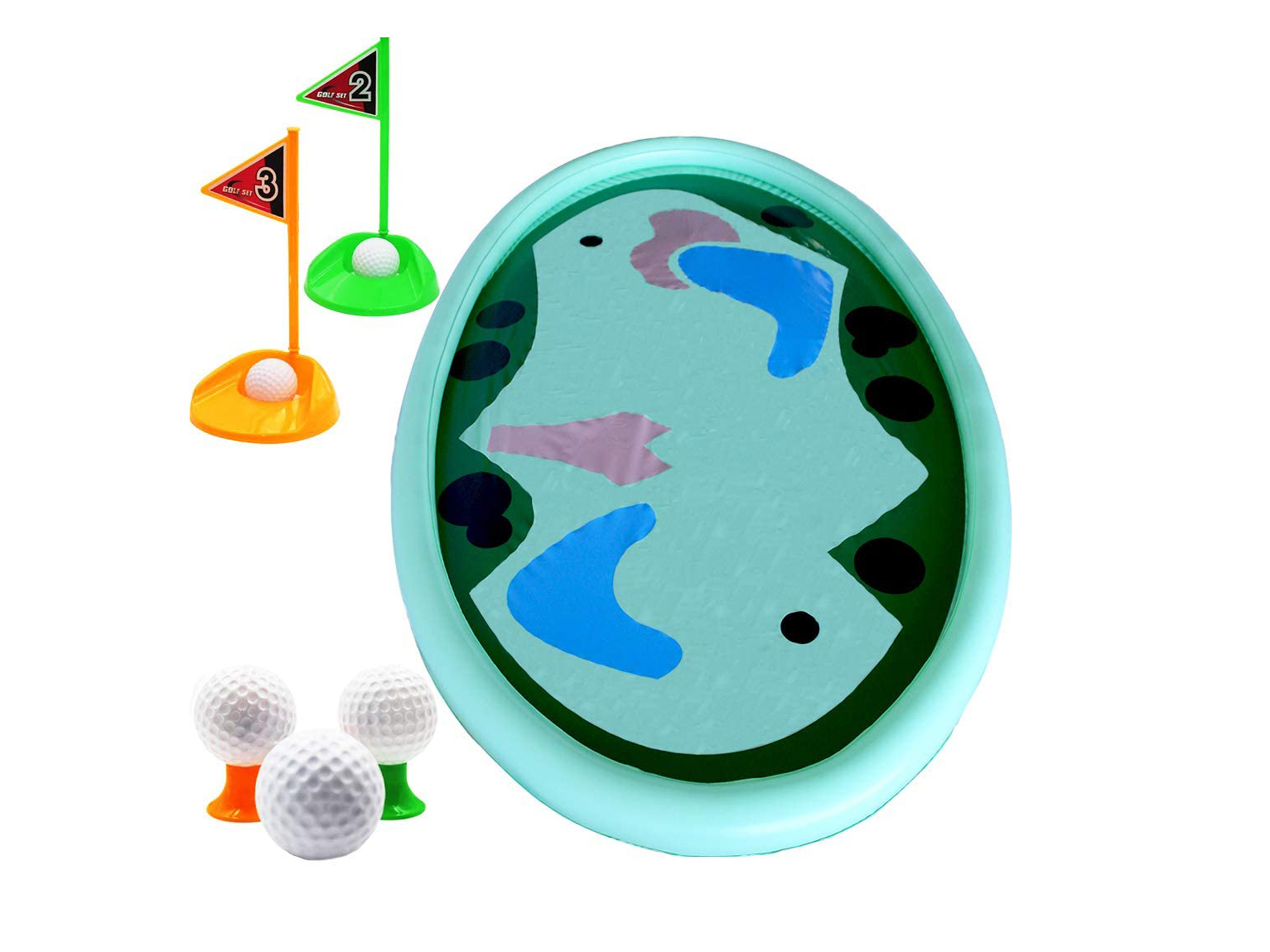 Inflatable Pool Golf Game