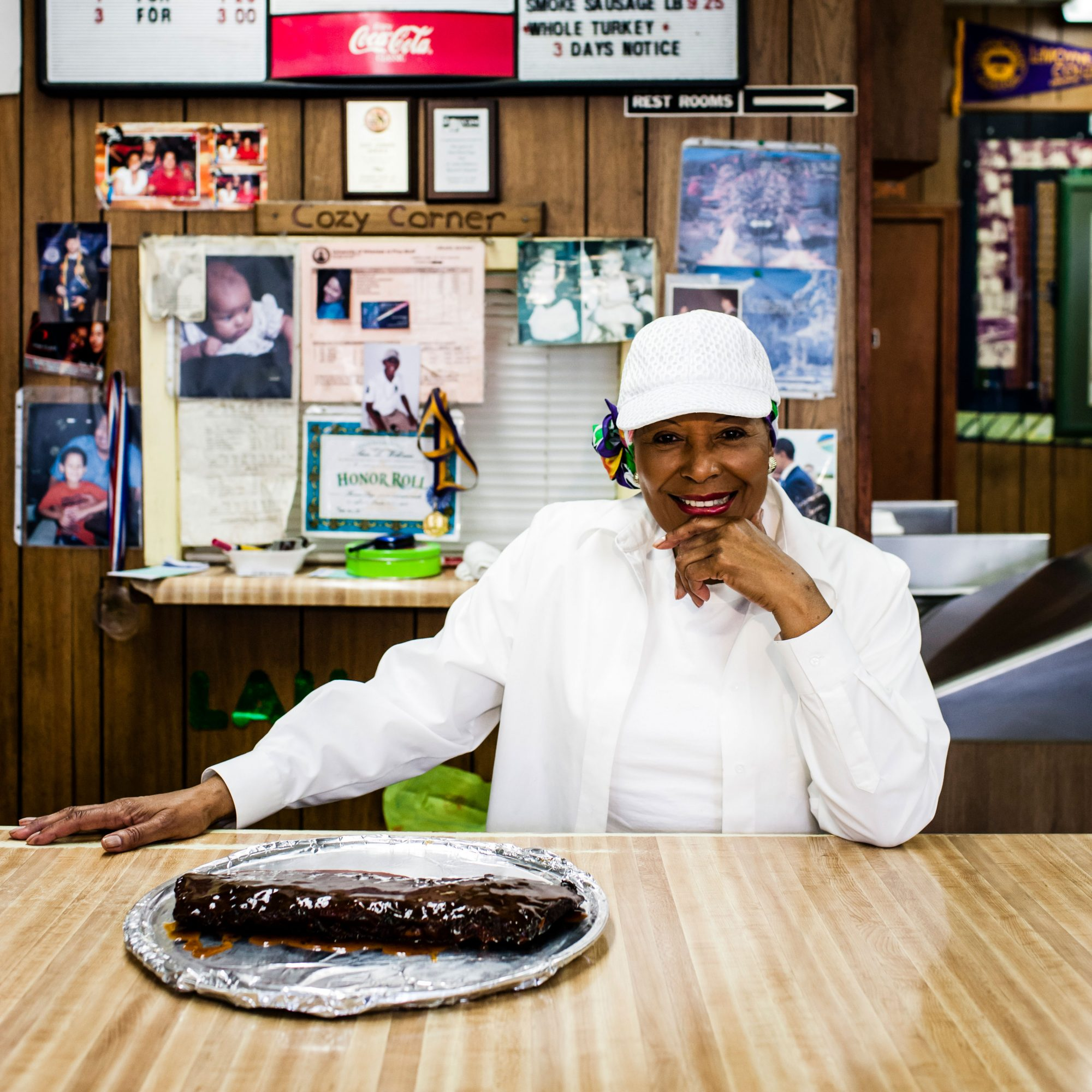 Desiree Robinson of Cozy Corner BBQ Restaurant in Memphis, TN