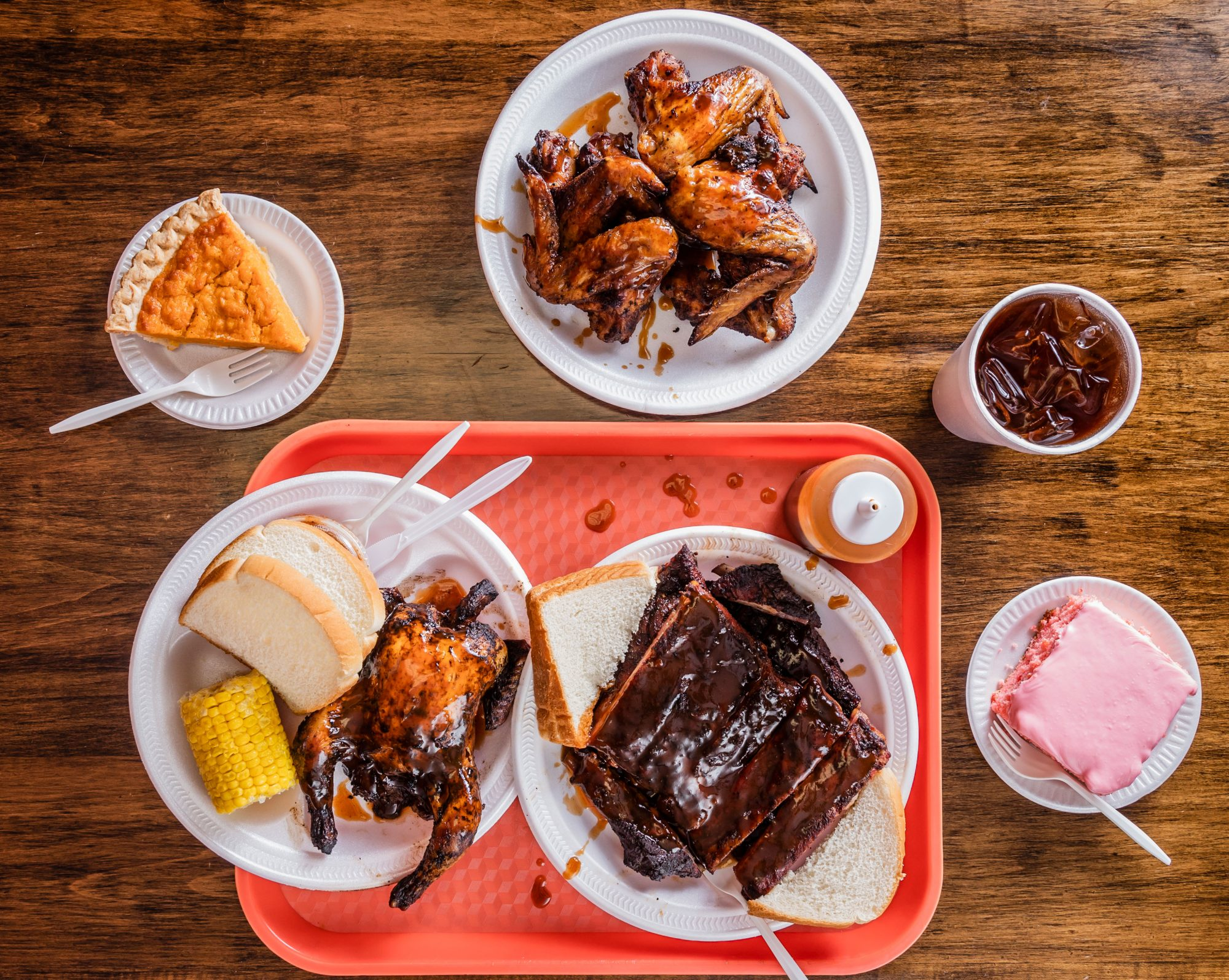Sampling of BBQ and Sides Offered at Cozy Corner BBQ in Memphis, TN