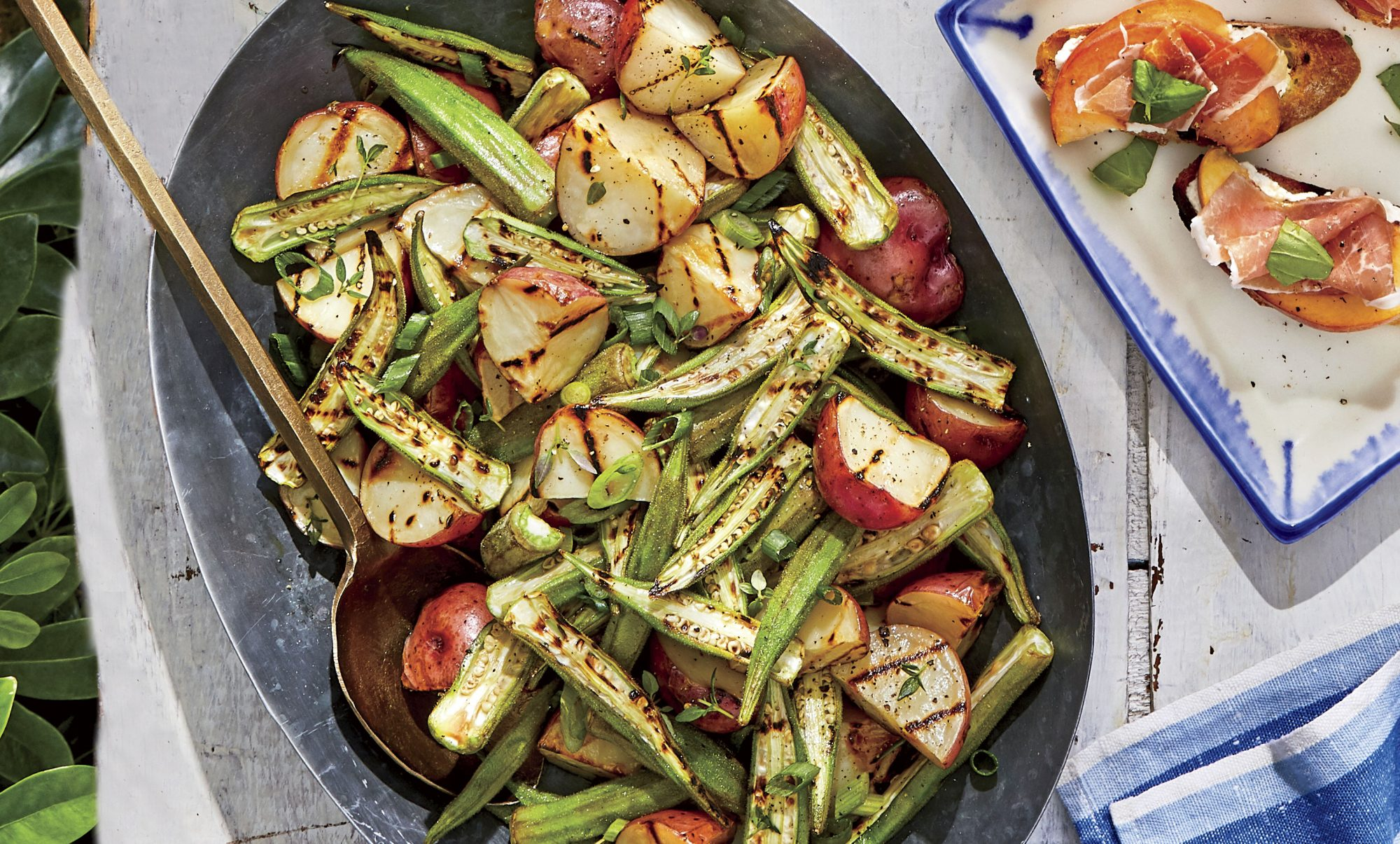 Charred Potato-Okra Salad