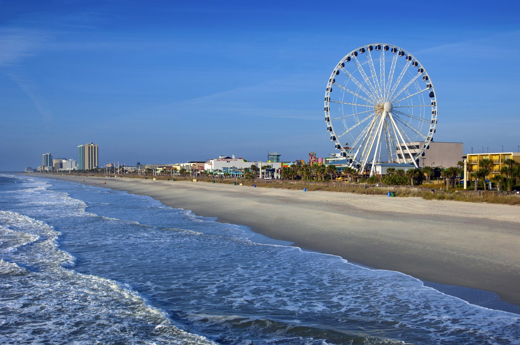 If you have $225,000…head to Myrtle BeachThe affordable neighbor to Hilton Head Island, Myrtle Beach offers many of the same benefits—including a boardwalk and 60 miles of beachfront—at a significantly lower price. (Median home price is $213,950, though you can snag a one- or two-bedroom condo for $100k.) If affordability is paramount, Vacasa suggests looking in North Myrtle Beach, where you'll find lower price tags attached to waterfront homes with easy access to golf courses and the ocean.