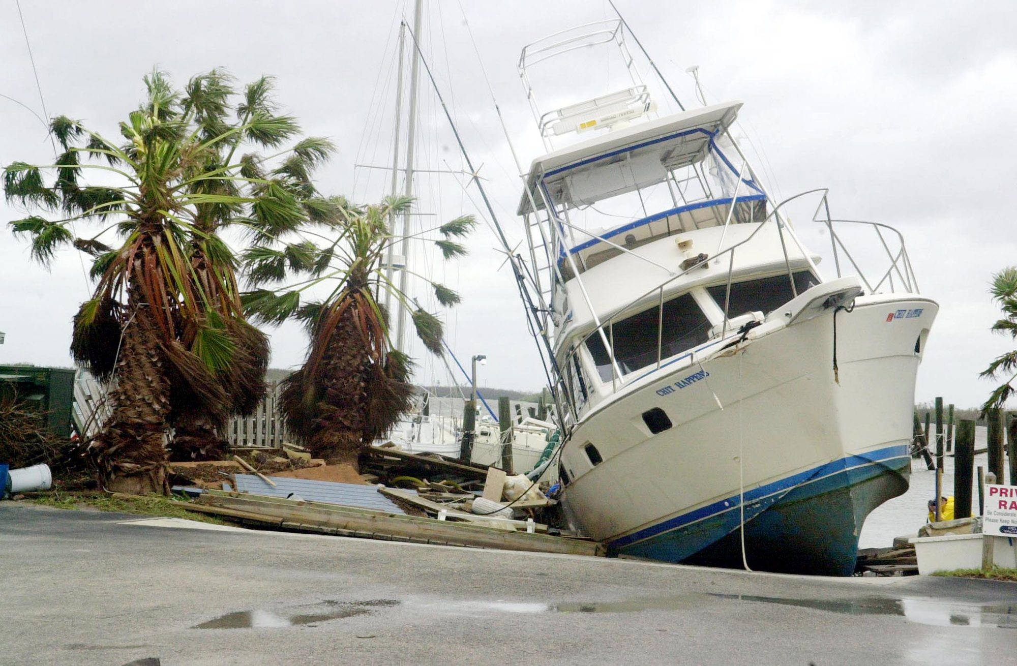 Hurricane Jeanne was a Category 3 hurricane when it hit the central part of Florida's east coast in late September 2004. Jeanne is known as the deadliest of the 2004 Atlantic hurricanes—it caused 3,000 or more deaths in Haiti alone. Cost: $7.66 billion