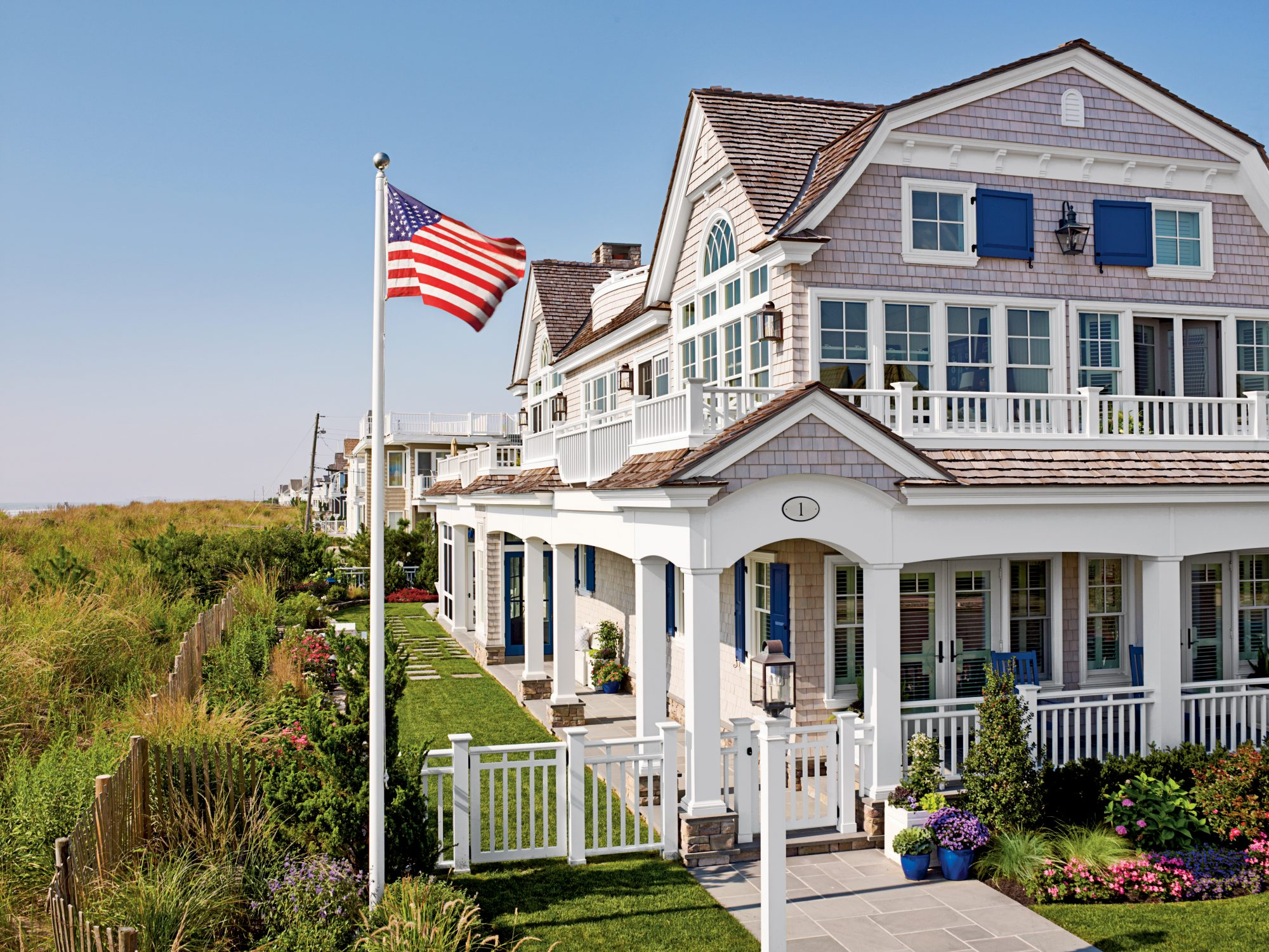 The Style: Classically picturesque, storybook perfect but never prim, this house in Stone Harbor, New Jersey, exudes a happy balance between practicality and panache. The New York--based homeowners needed their beach house to have enough dexterity to hand