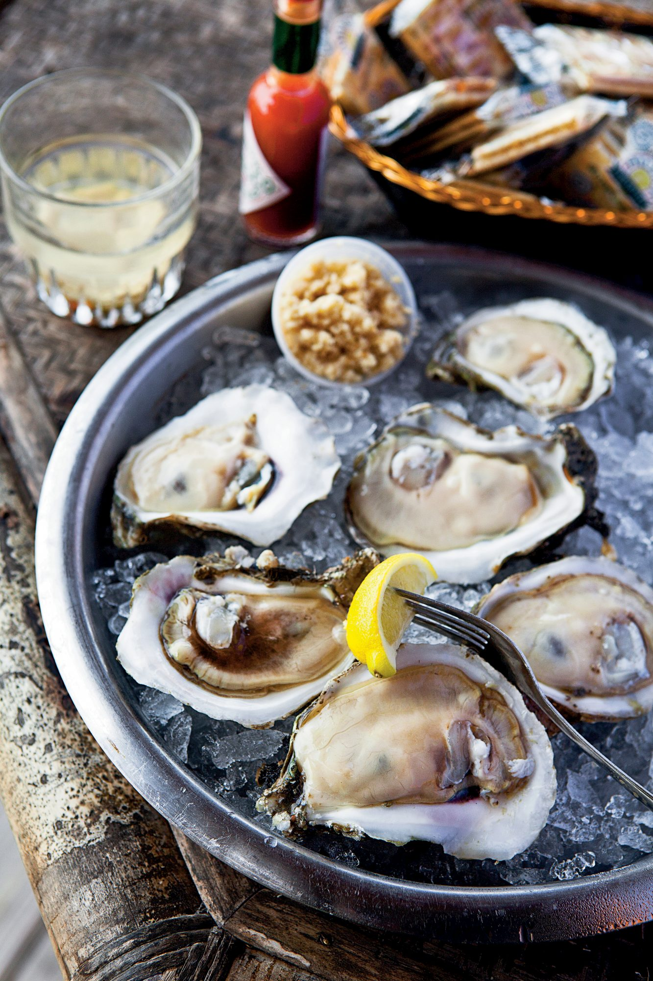 Boss Oyster in Appalachicola is a classic Florida dive, with open-air rooms on pilings above the water, specializes in baked oysters with creative toppings; 850-653-9364