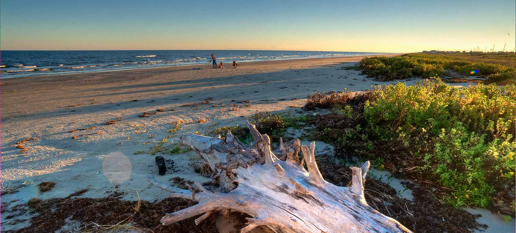 At the west end of this popular island just an hour from Houston, this quiet treasure protects 2,000 acres of upper Gulf Coast barrier island ecosystem, including beautiful beaches, lagoons, bay, and salt marshes. Note: the beach-side area of the park is