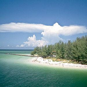 Anna Maria Island, Florida                                       The island-wide speed limit never tops 35 mph, so bicyclists sometimes move at too fast a pace for this town on a tiny, white-sand sliver about 50 miles south of Tampa. Instead of a car, it's more likely you'll use your bike, kayak, or flip-flops.