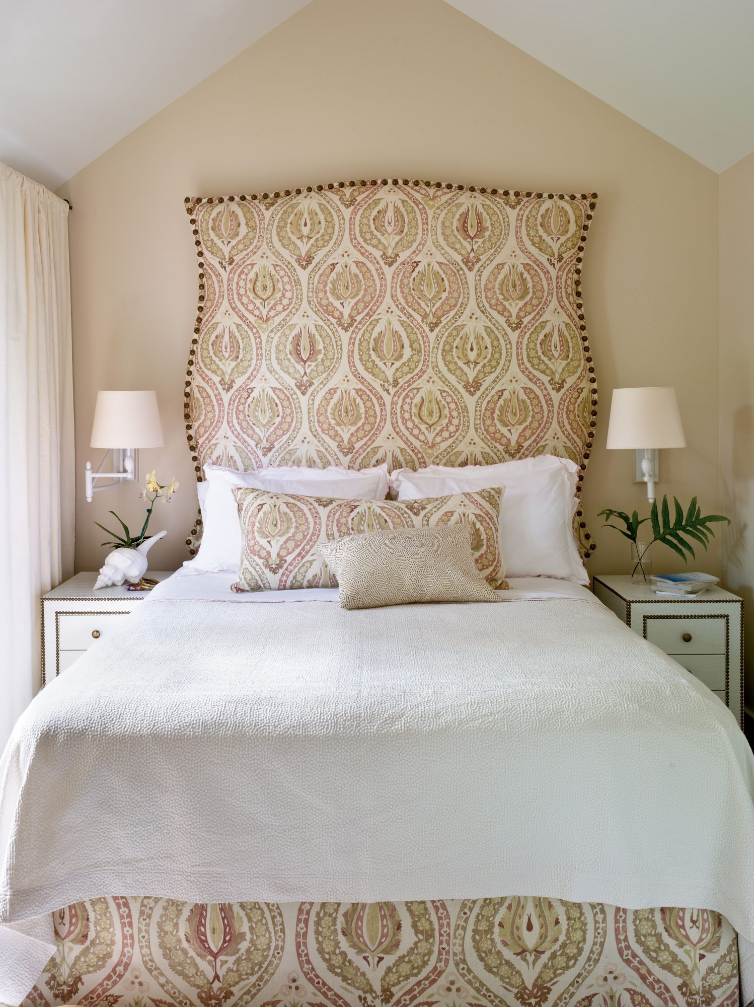 Master Bedroom Upholstered Headboard