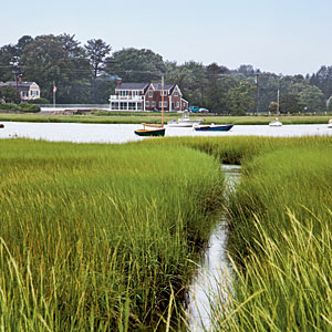 """Duxbury, Massachusetts                                       Despite its beginnings as a shipbuilding town, this seaside spot a half hour south of Boston is sometimes referred to as """"Deluxe-bury."""" Look for the old Yankee preppy factor, with lots of J. Crew and Lilly Pulitzer."""