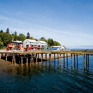 Langley, Washington                                       One hour north of Seattle, Langley has New England charm and a skip in its step, possibly due to the extra sunshine it receives behind the Olympic Peninsula's rain shadow. Despite the island's easy access, Langley has maintained its small-town calm and local character.