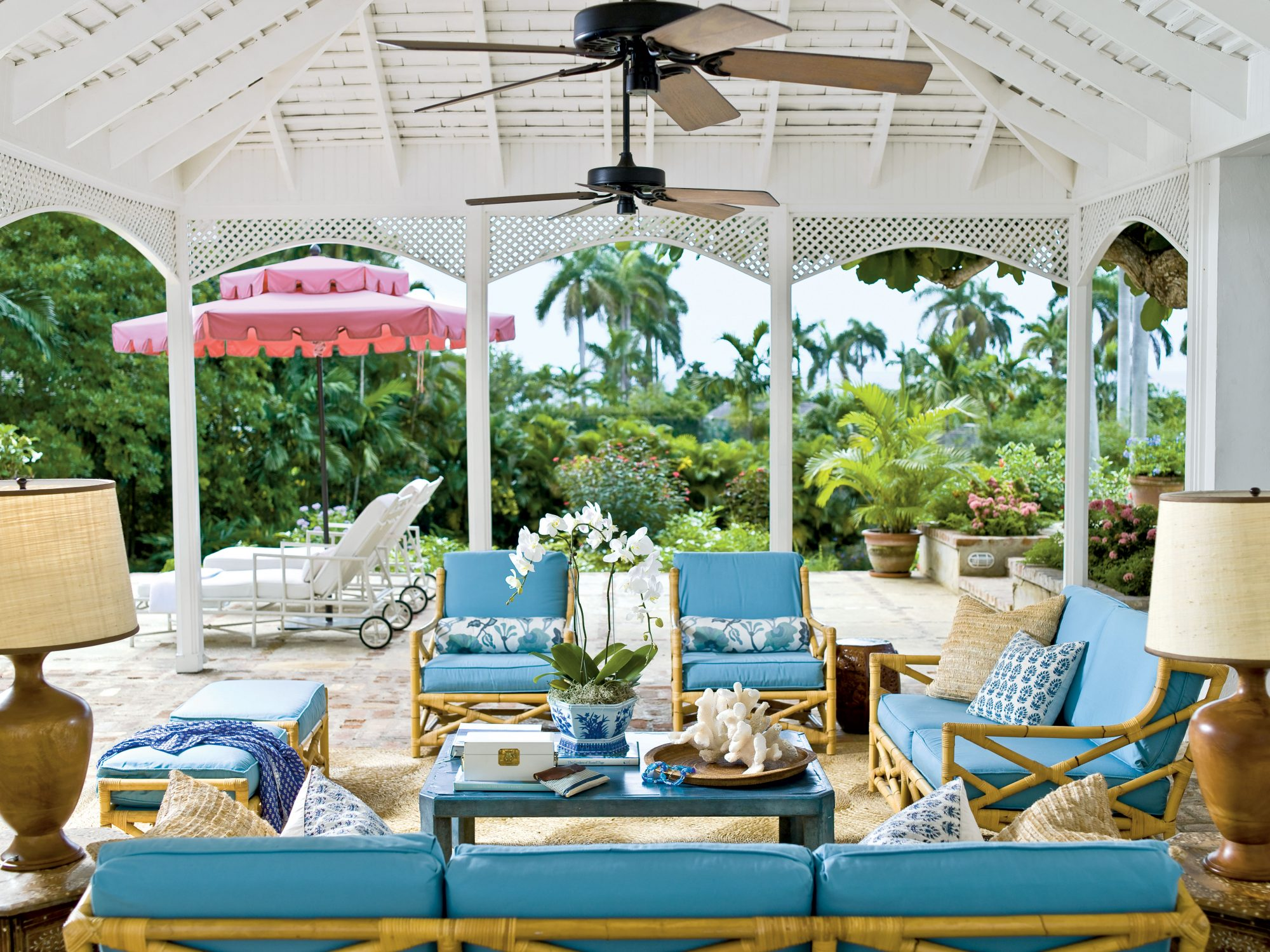Our 25 Prettiest Island Rooms: Poolside Preppy