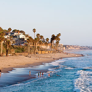 """San Clemente, California                             Built in the 1920s as a """"Spanish Village by the Sea"""" San Clemente has about 300 sunny days annually and some of the best surf on this coast. Mediterranean architecture still rules in the quaint stucco-and-red-tile-roofed homes and civic buildings."""