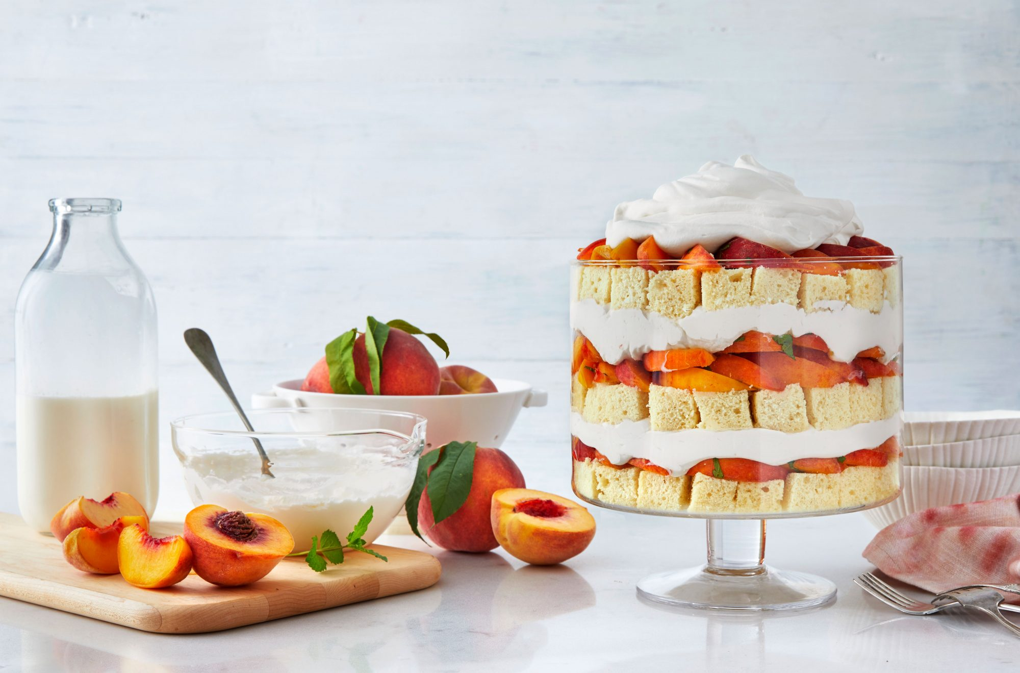 Peach Shortcake Trifle