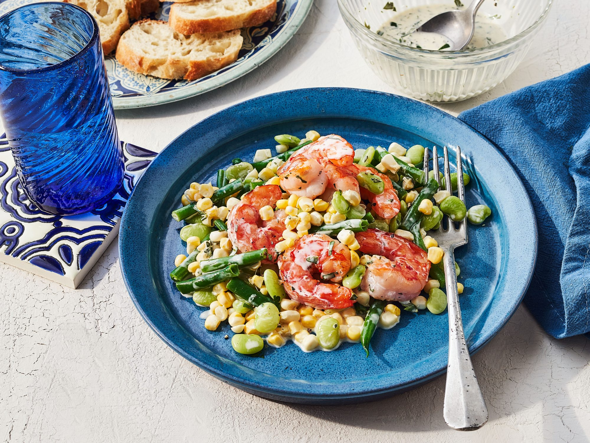 Shrimp-and-Corn Succotash