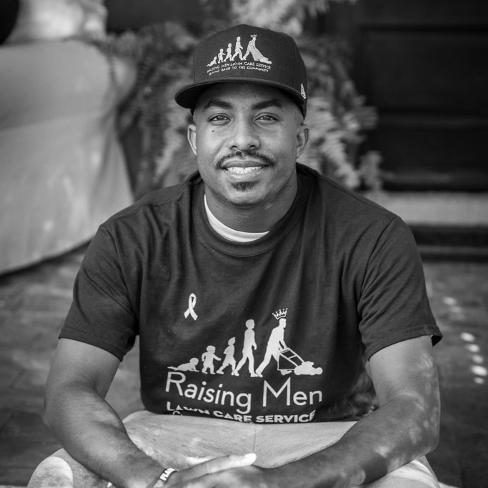 Rodney Smith Jr. of Raising Men Lawn Care