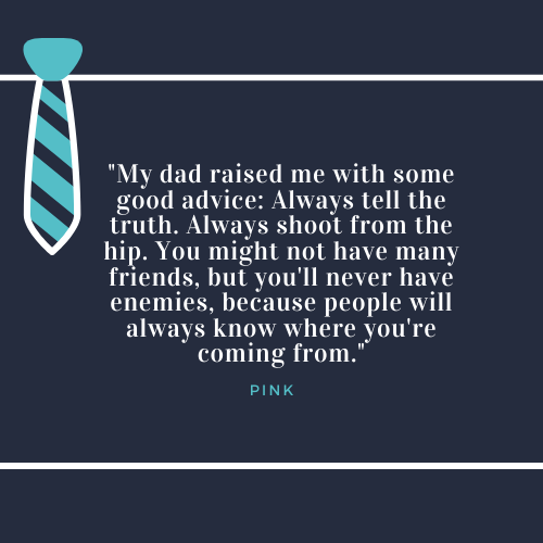 Father's Day Quotes about Dad Pink