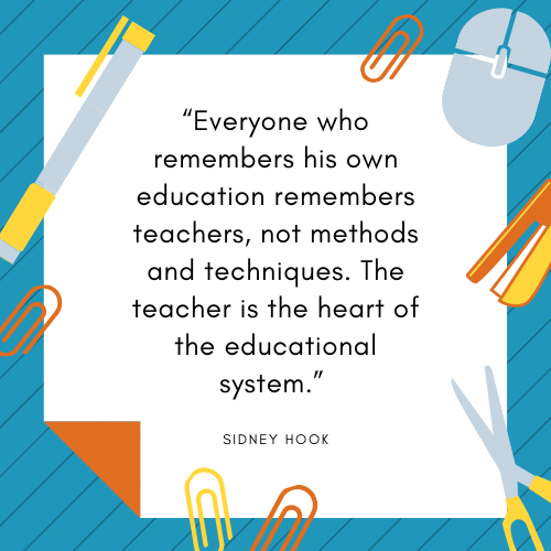 Teacher Quotes Sidney Hook