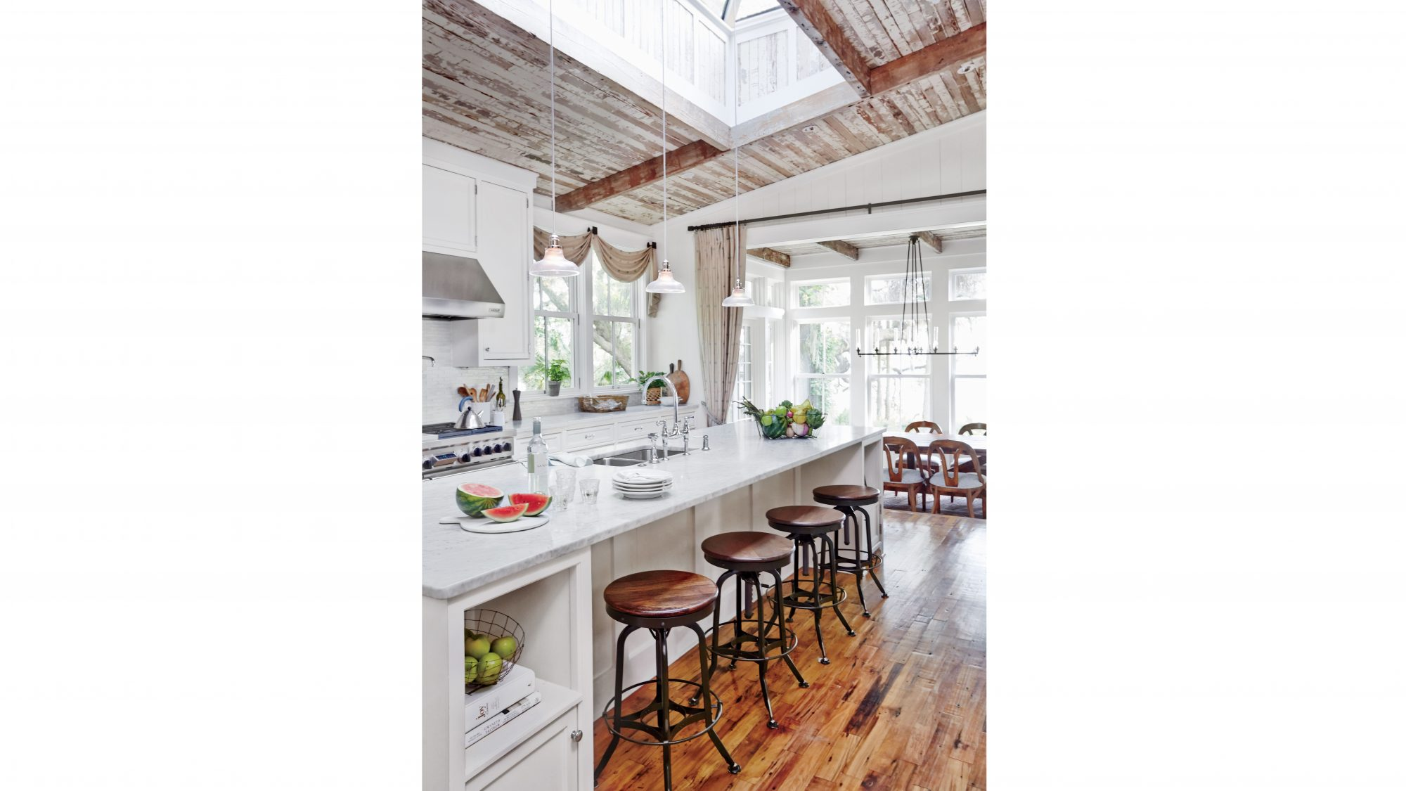 Lowcountry rustic kitchen