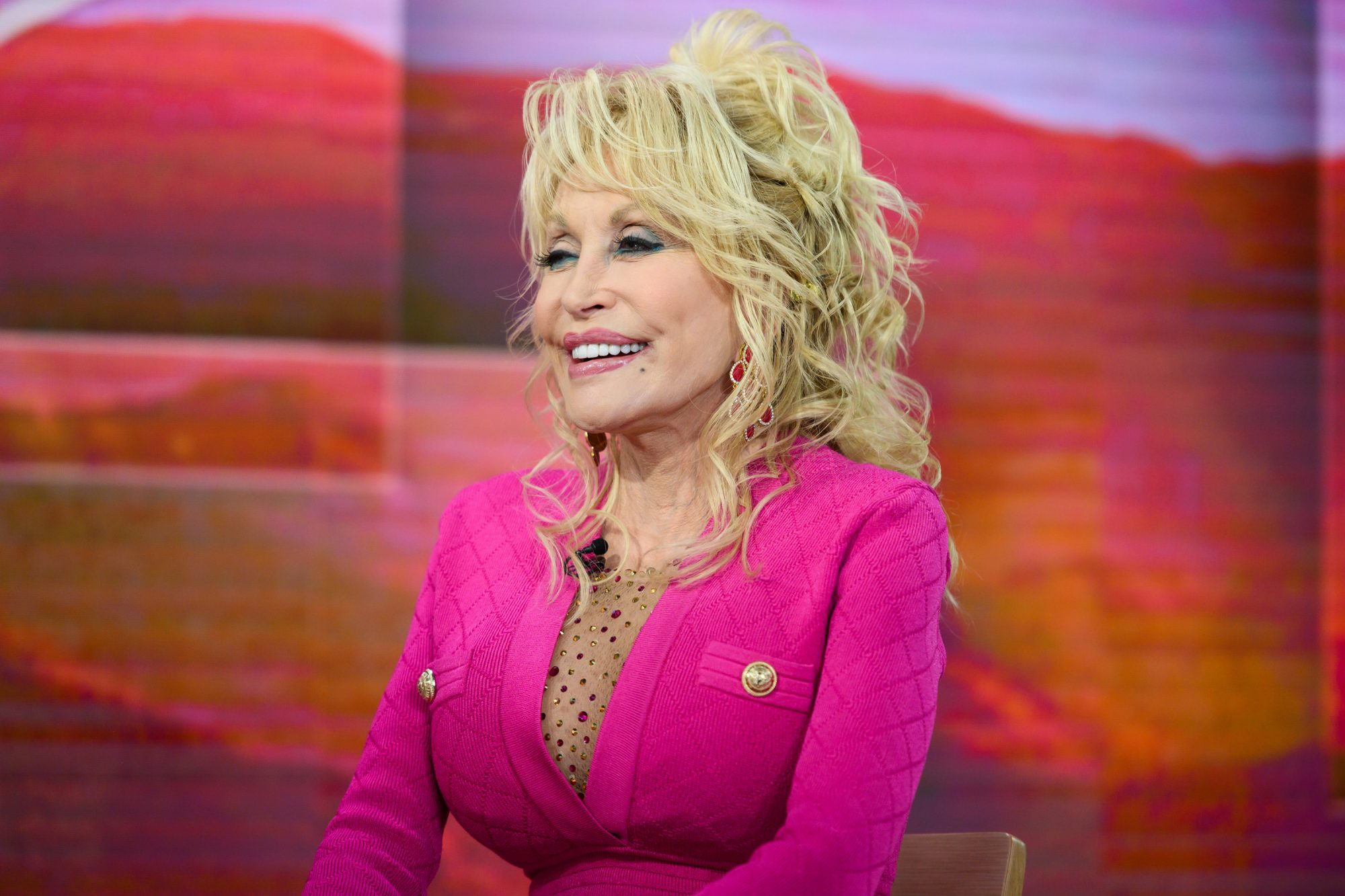 Dolly Parton in Pink