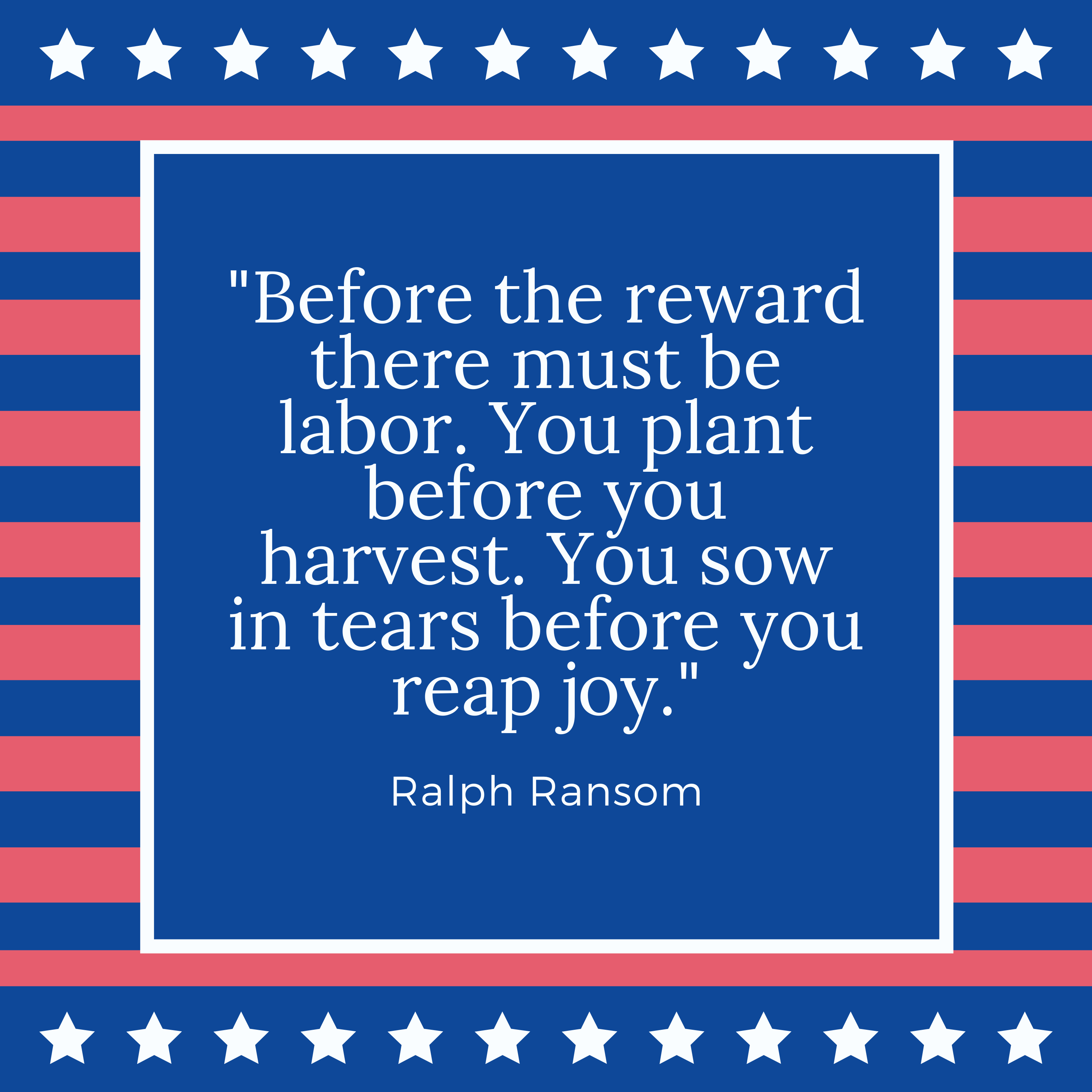 Labor Day Quote Ralph Ransom