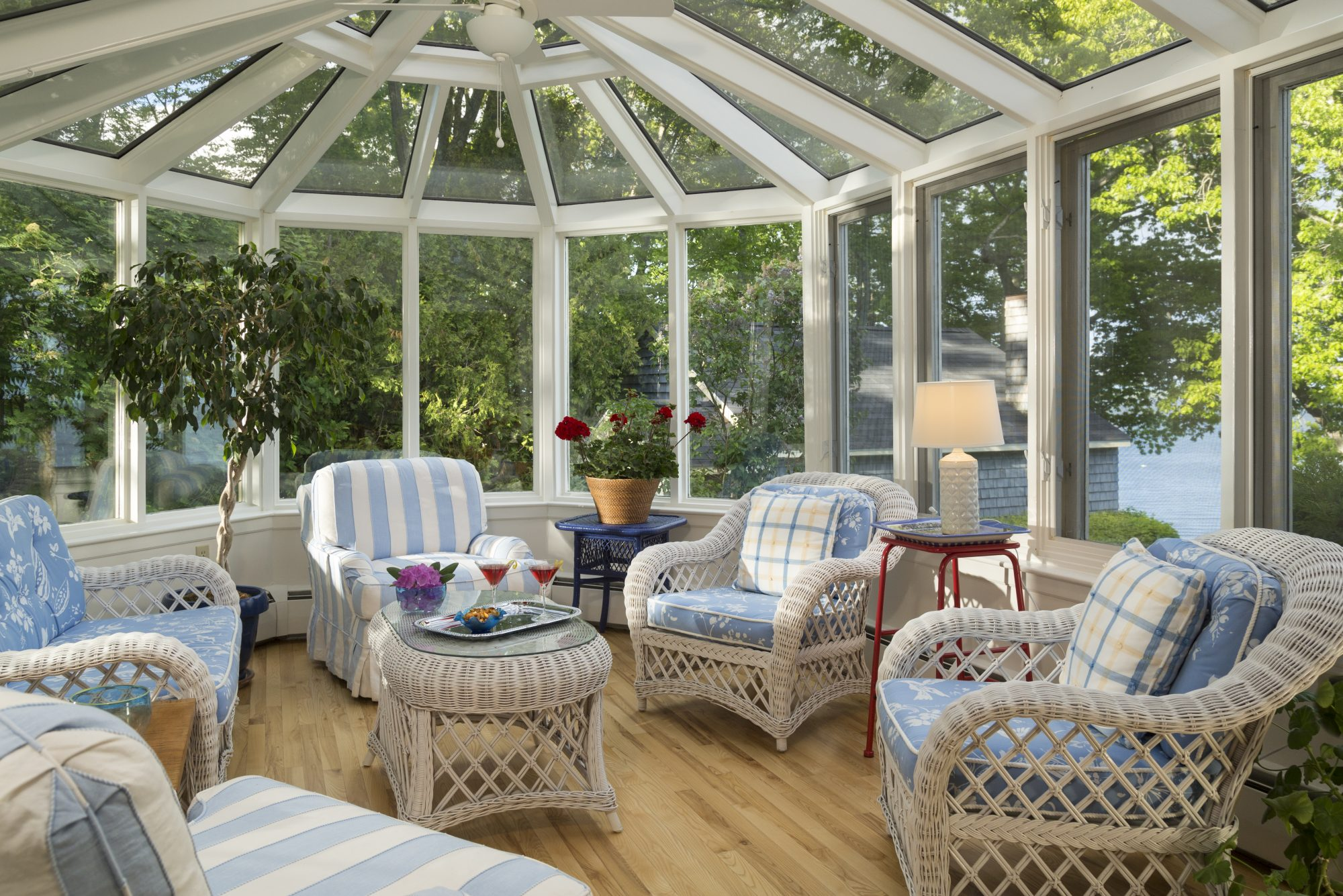 Florida Room With Glass Ceiling