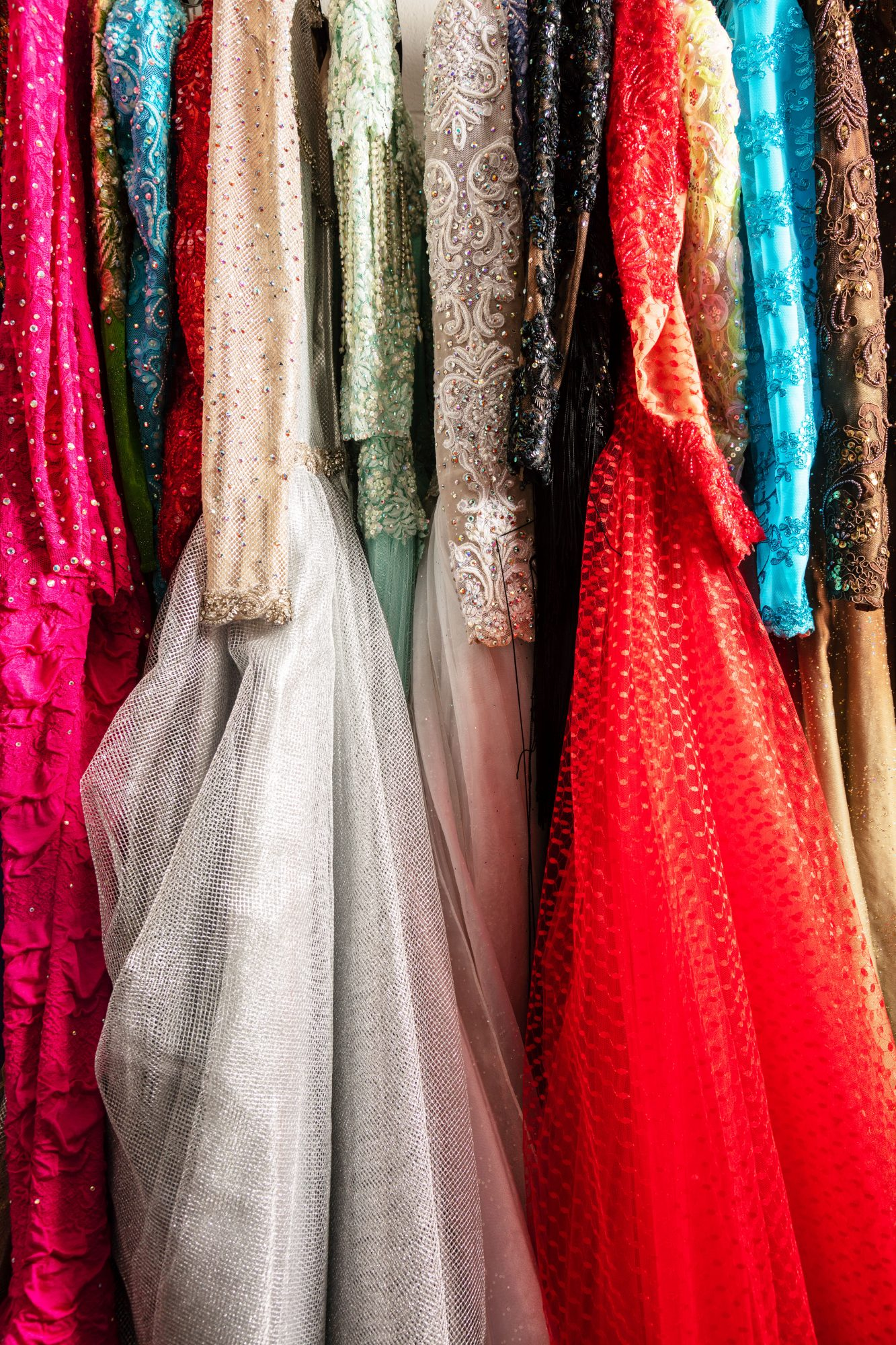 A Small Selection of Loretta Lynn's Gowns in Her Collection