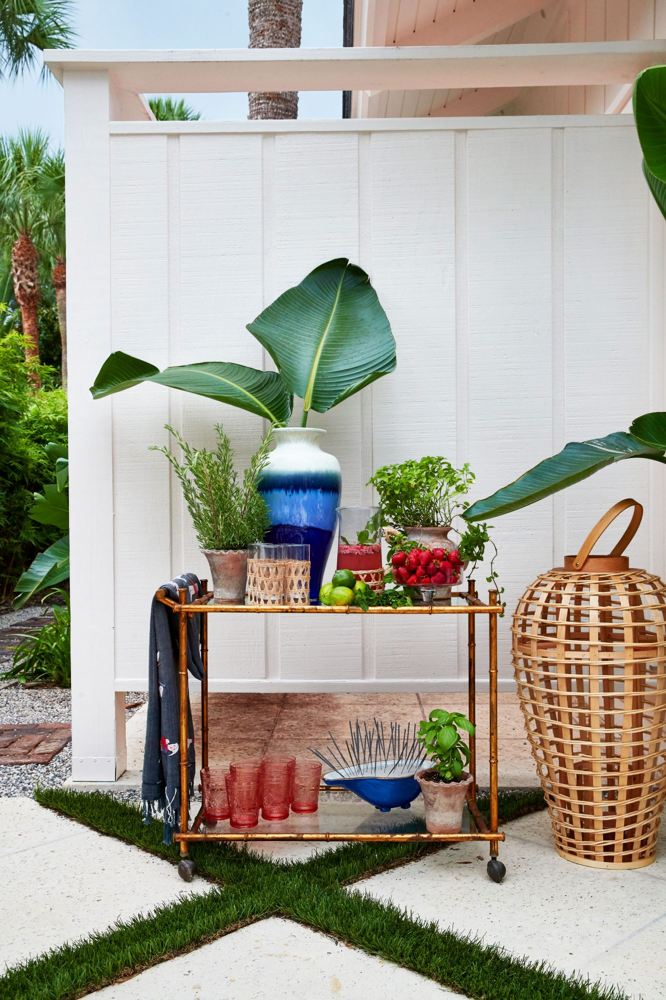 4th of July Outdoor Party Bar Cart