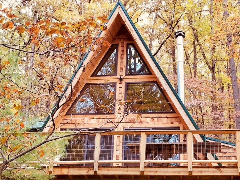 Cabins to Rent West Virginia A-Frame