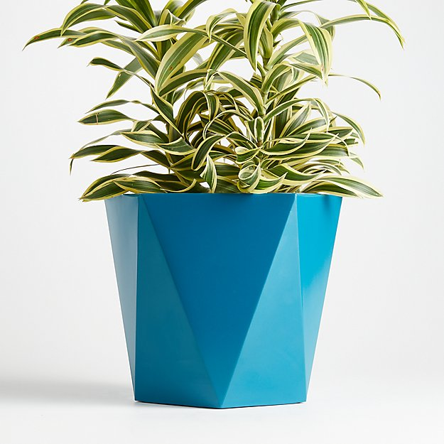 Haeden Planter Teal Crate Barrel
