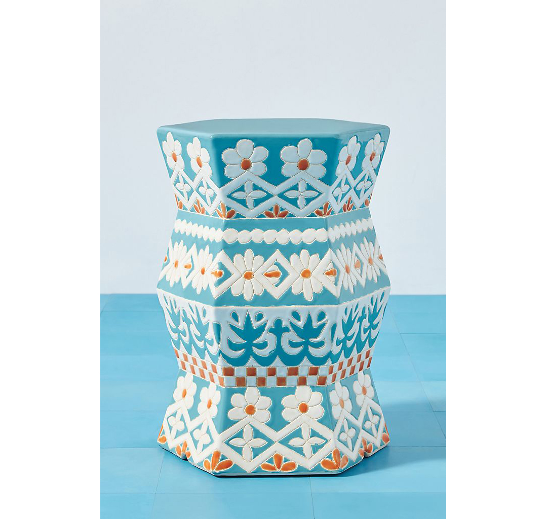 Vallarta Ceramic Stool