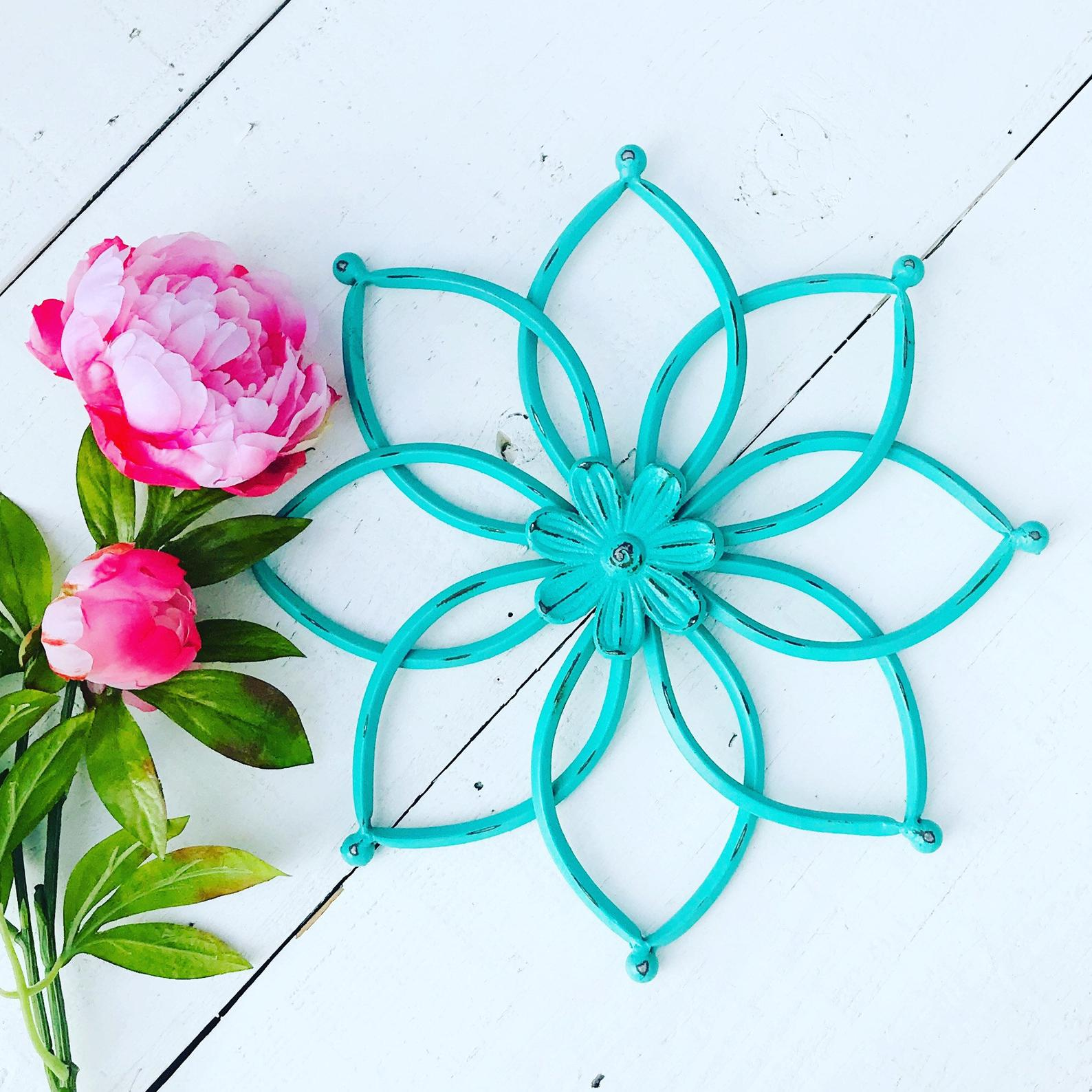 Etsy Metal Flower Wall Art