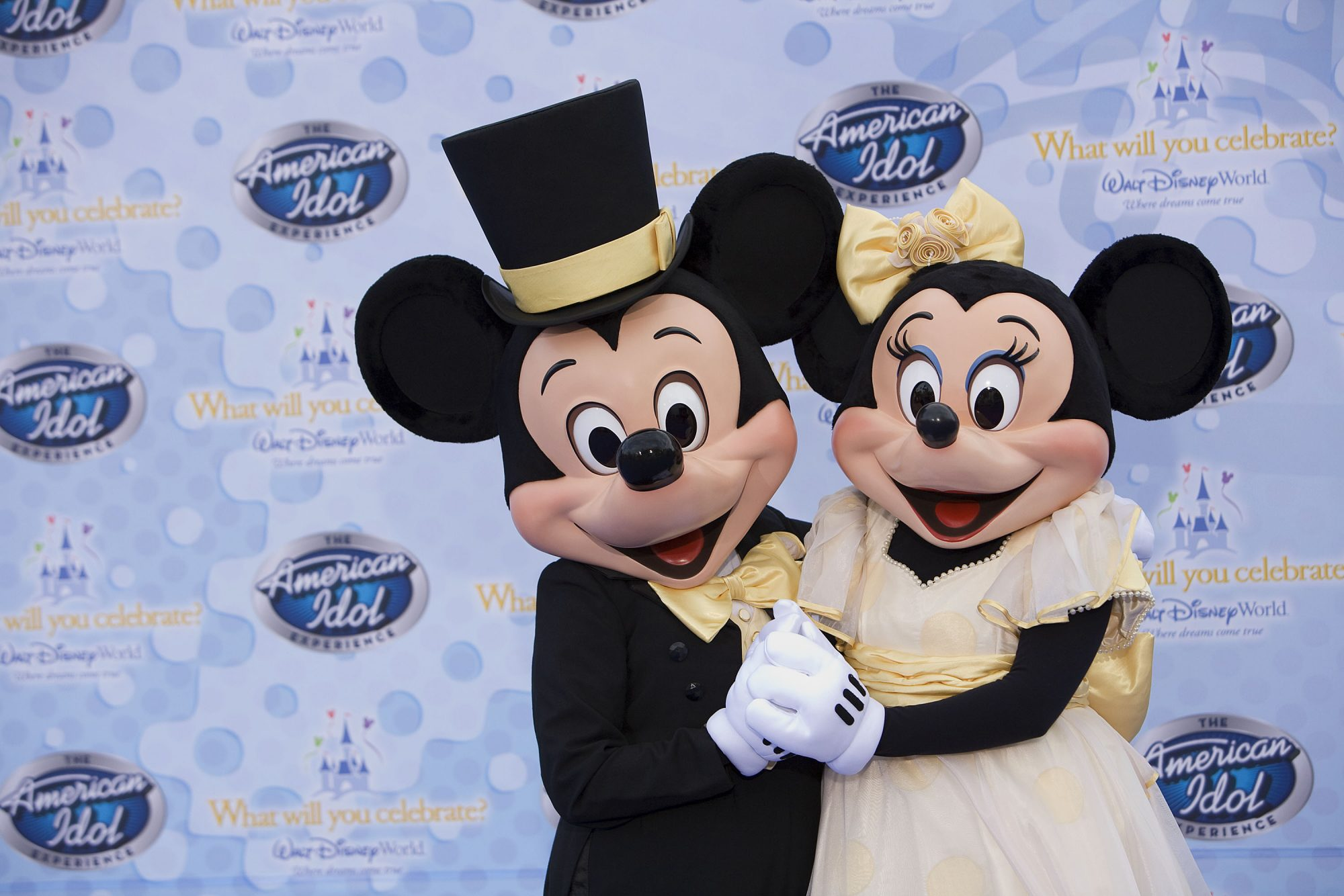 Mickey Mouse and Minnie Mouse American Idol Experience At Walt Disney World
