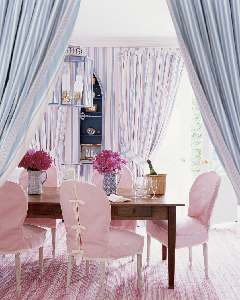 Pink and Purple Dining Room