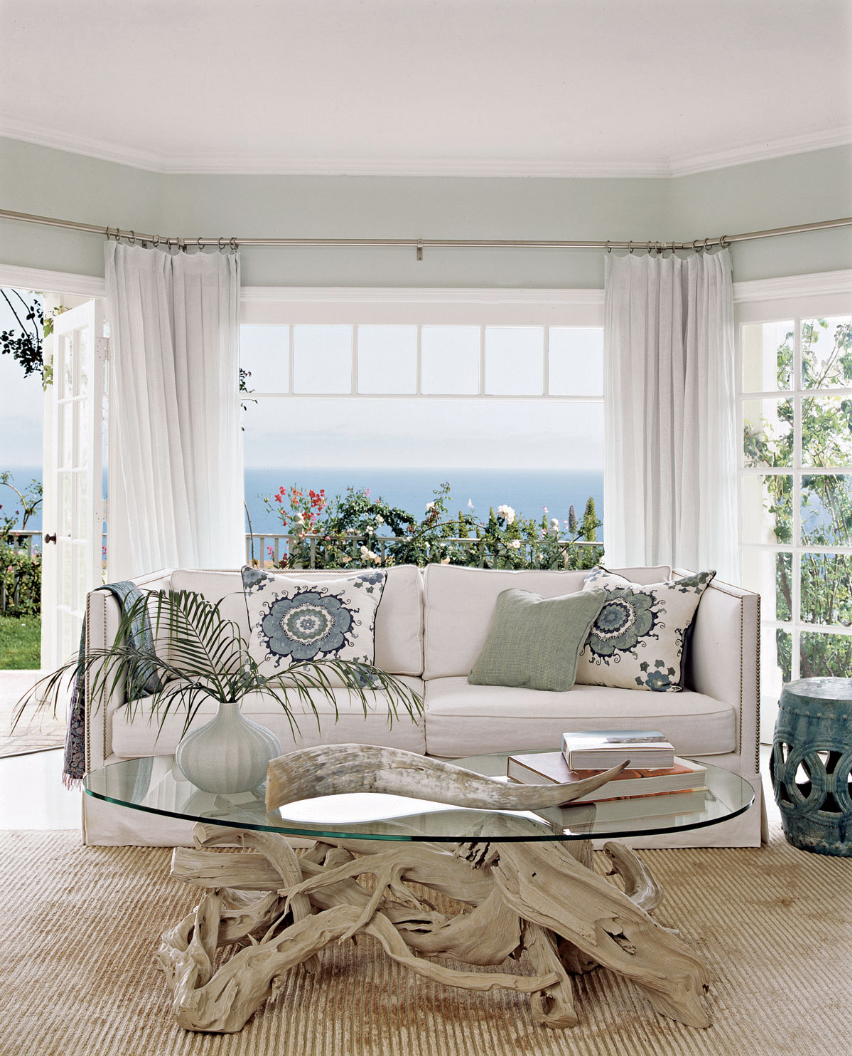 Sheer Curtains for Ocean View