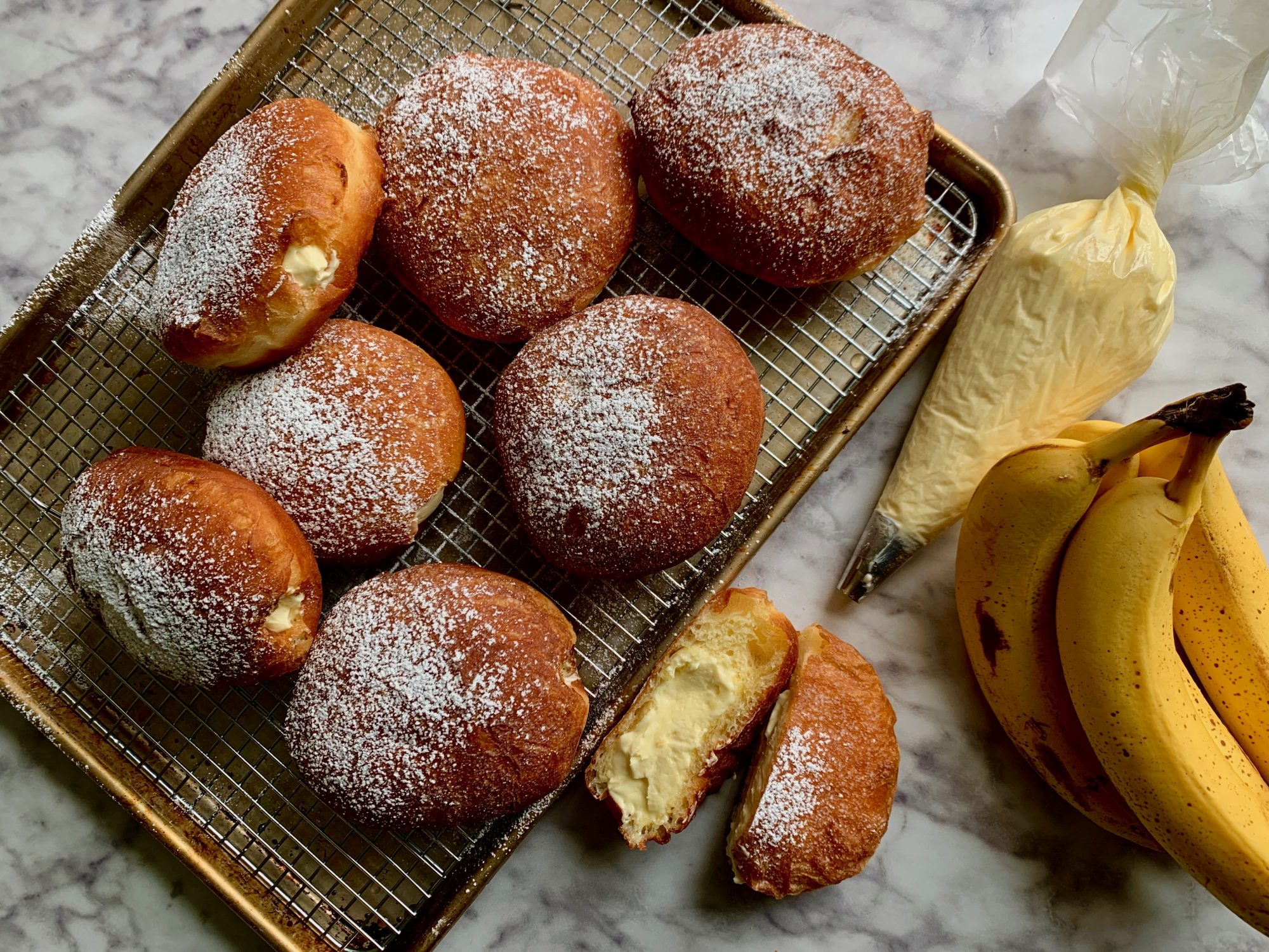 Banana Cream Donuts