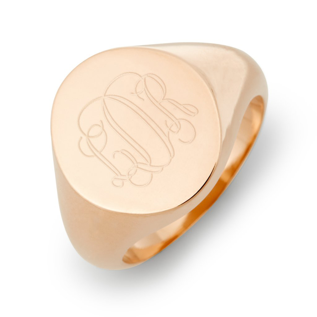 Brook & York Rose Gold Signet Ring