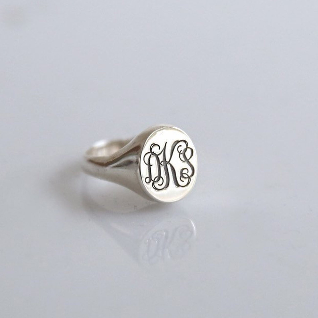 Etsy Personalized Monogram Ring