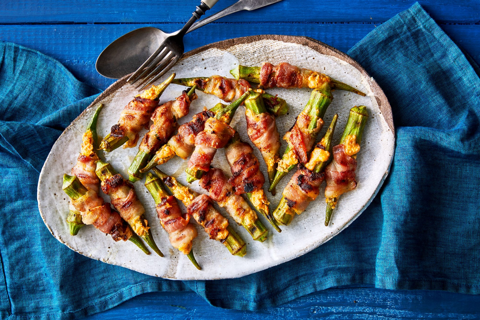 Stuffed Okra Poppers