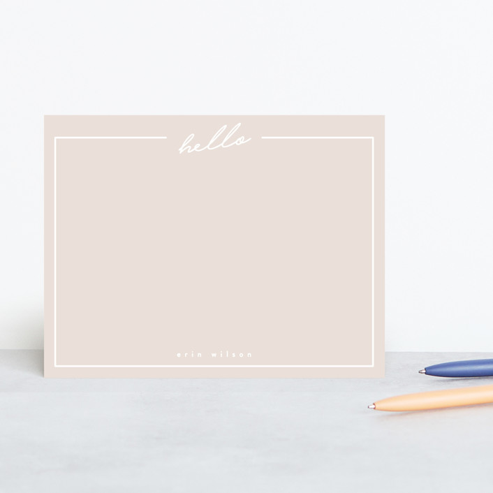 Minted Hello Stationery